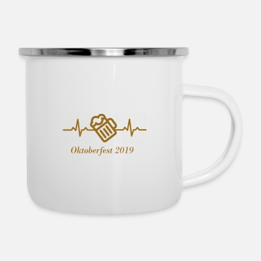 Heartbeat Bier Edition - Emaille-Tasse