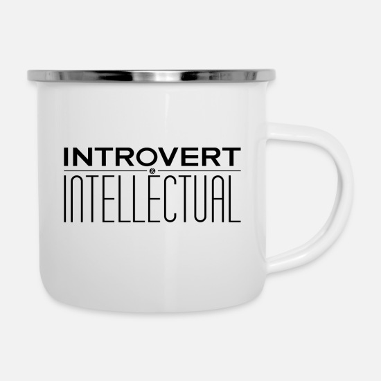 Best In Class Mugs & Drinkware - Introvert and Intellectual - Enamel Mug white
