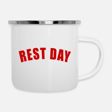 Hawaii REST DAY GIFT SPORTSMAN TRIATHLON TRIATHLET TRI - Enamel Mug