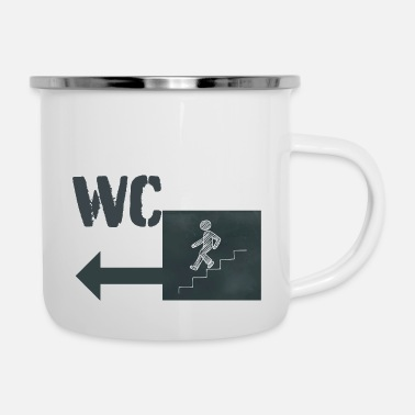 Wc WC - Emaille-Tasse