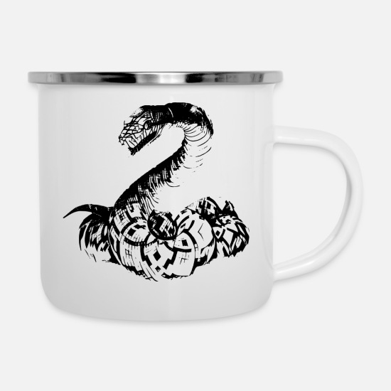 Birthday Mugs & Drinkware - Snake - Enamel Mug white