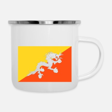 Building Bt Flag - Enamel Mug