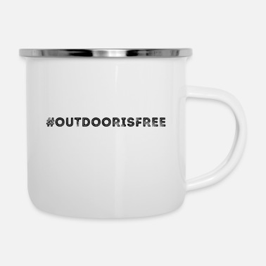 Outdoor Hashtag Outdoor Free - Emaljmugg