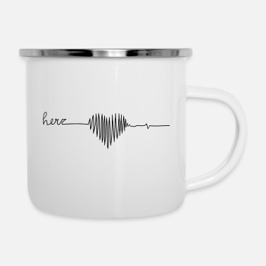 Miscellaneous heart one line - Enamel Mug