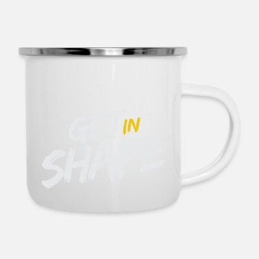 Shape GET IN SHAPE - Emaille-Tasse
