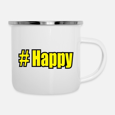 Wilder # happy - Emaille-Tasse