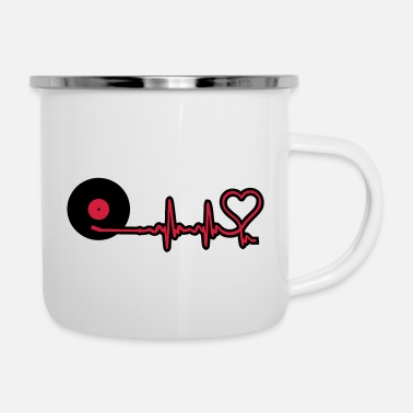 Frequency music frequency - Enamel Mug