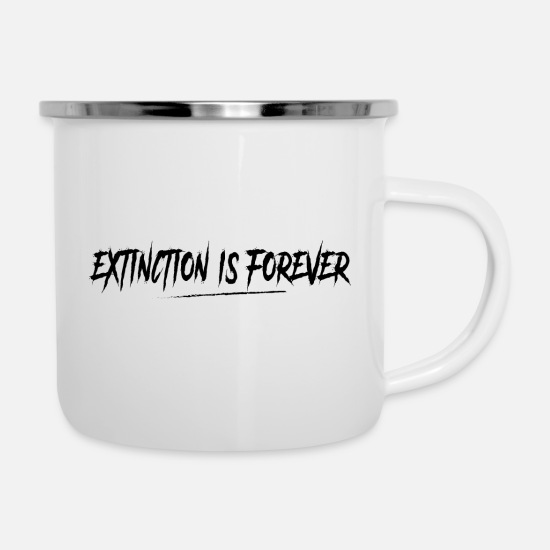 Enviromental Mugs & Drinkware - The extinction is definitive! - Enamel Mug white