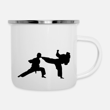 Kampfsport kung fu karate fighting - Emaille-Tasse