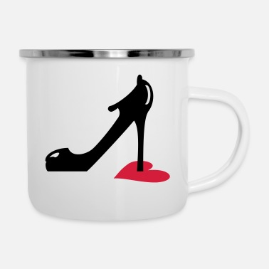 Highheels highheel step on heart (3c) - Enamel Mug