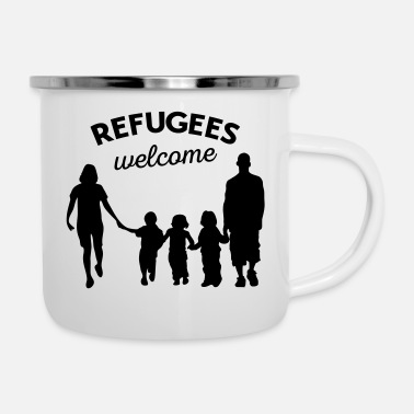 Refugees Welcome Refugees welcome - Enamel Mug