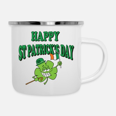 Day Happy St Patrick's Day - Enamel Mug
