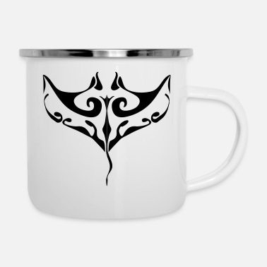 Tatoo Manta ray tatoo - Enamel Mug
