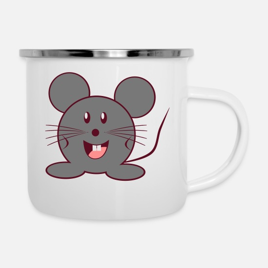 Funny Pictures Mugs & Drinkware - mouse - Enamel Mug white