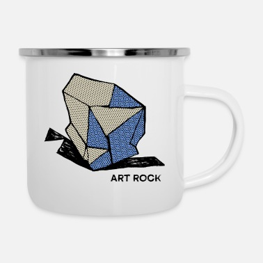 Coole ART ROCK Nr. 1 Farbe - Emaille-Tasse