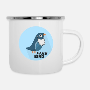 Officialbrands T-Shirt Bird Fake News - Tazza smaltata
