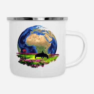 Global Libertad Naturaleza Conservación Global - Taza esmaltada