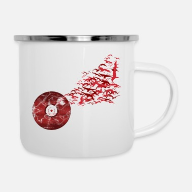 Vinyl Vinyl Birds - Tazza smaltata