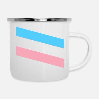 Strip TRANS stripes - Emaille-Tasse