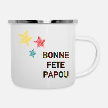 Birthday Happy Papuan Day. Happy Birthday Dad. Fathers Day. - Enamel Mug