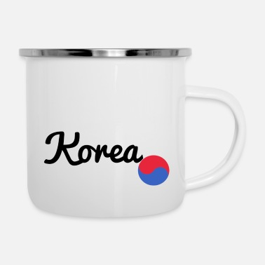 Cupid Korea black - Enamel Mug
