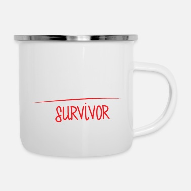 Candidate Doctor / Physician: PhD candidate or survivor? - Enamel Mug
