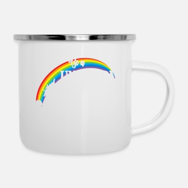 Romantisch Be a Unicorn in a field - Emaille-Tasse