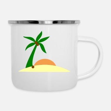 Insel Insel - Emaille-Tasse