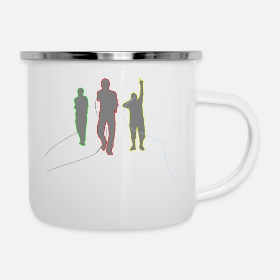 Rap Mugs & Drinkware - rappers - Enamel Mug white