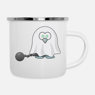 Tux ghost tux - Emaille-Tasse