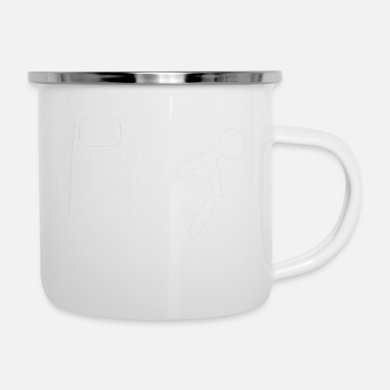 Car Mugs & Drinkware - white petrol - Enamel Mug white
