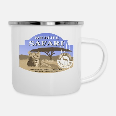 Safari Lion - Safari - Africa - Enamel Mug