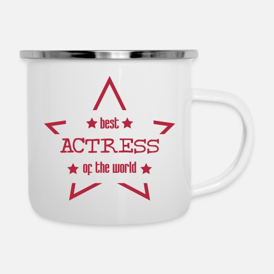 Actor Mugs & Drinkware - Actor / Actress / Schauspieler / Acteur / Actrice - Enamel Mug white