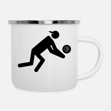 Volley volley - Emaille-Tasse