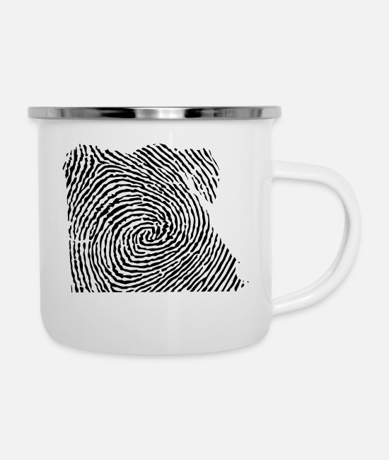 Nile Mugs & Drinkware - Egypt fingerprint - Enamel Mug white