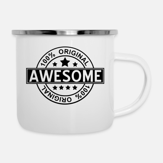 Awesome Mugs et récipients - awesome - Mug émaillé blanc