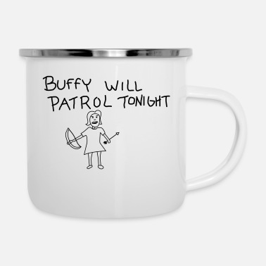 Tv buffy's patrol - Emaille-Tasse