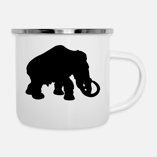 New Mugs & Drinkware - mammoth dinosaur - Enamel Mug white