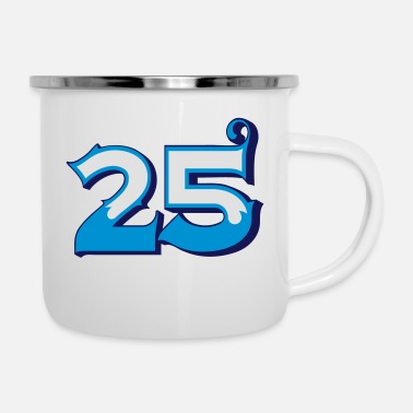 Circus Fun Numbers 25 - 3C colorchange - Emaille-Tasse