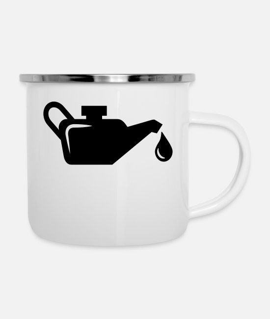 Vehicle Mugs & Drinkware - oil - Enamel Mug white