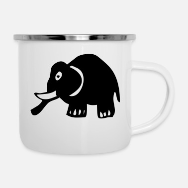 Girafe elephant kids animal - Mug émaillé