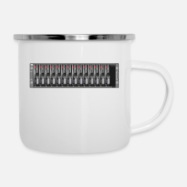 Serve Server - Emaille-Tasse