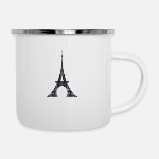 Family Crest Mugs & Drinkware - Eiffel tower - Enamel Mug white