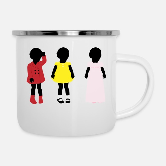 Graffiti Mugs & Drinkware - children - Enamel Mug white