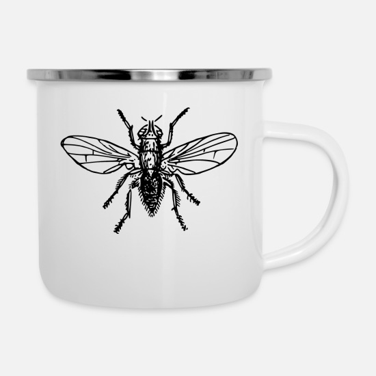 Love Mugs & Drinkware - Fly Fly Insect Insects Animal Animals - Enamel Mug white