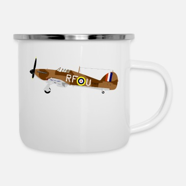 World Fighter plane from the 2nd World War - Enamel Mug