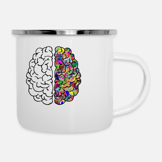 Art Mugs & Drinkware - Brain - Enamel Mug white