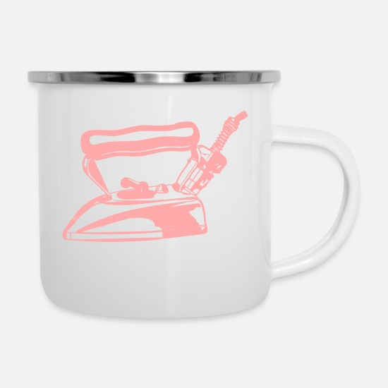 Gift Idea Mugs & Drinkware - Iron - Enamel Mug white
