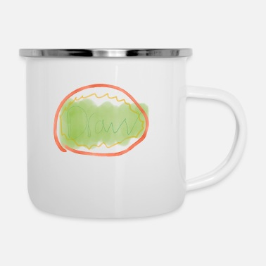 Drawing draw - Enamel Mug
