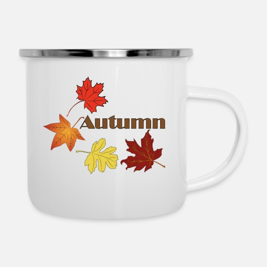 Sheet Mugs & Drinkware - Autumn positive people (autumn 1) - Enamel Mug white